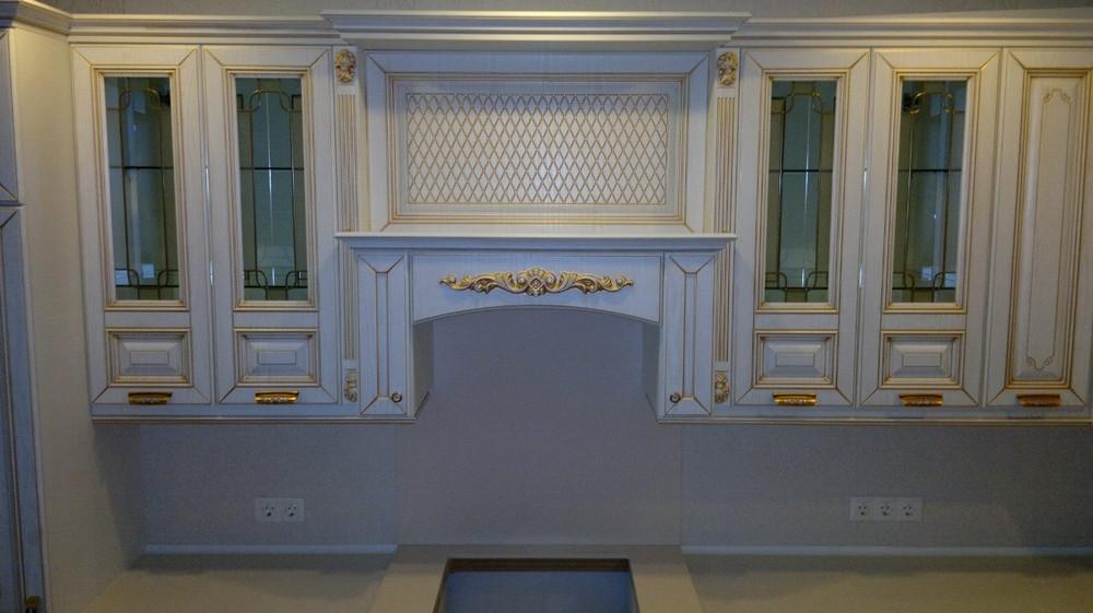 Белый кухонный гарнитур-Кухня МДФ в эмали «Модель 126»-фото2