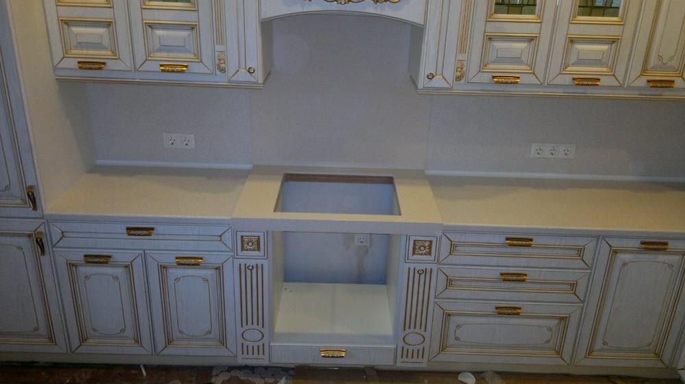 Белый кухонный гарнитур-Кухня МДФ в эмали «Модель 126»-фото3