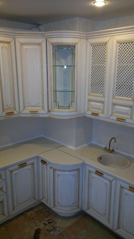 Белый кухонный гарнитур-Кухня МДФ в эмали «Модель 126»-фото4