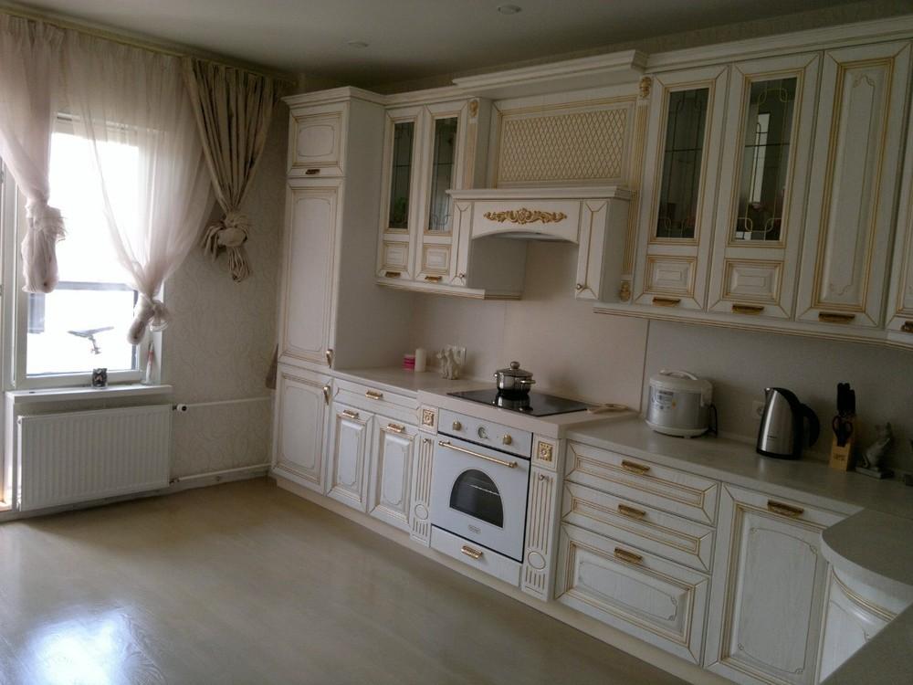 Белый кухонный гарнитур-Кухня МДФ в эмали «Модель 126»-фото5