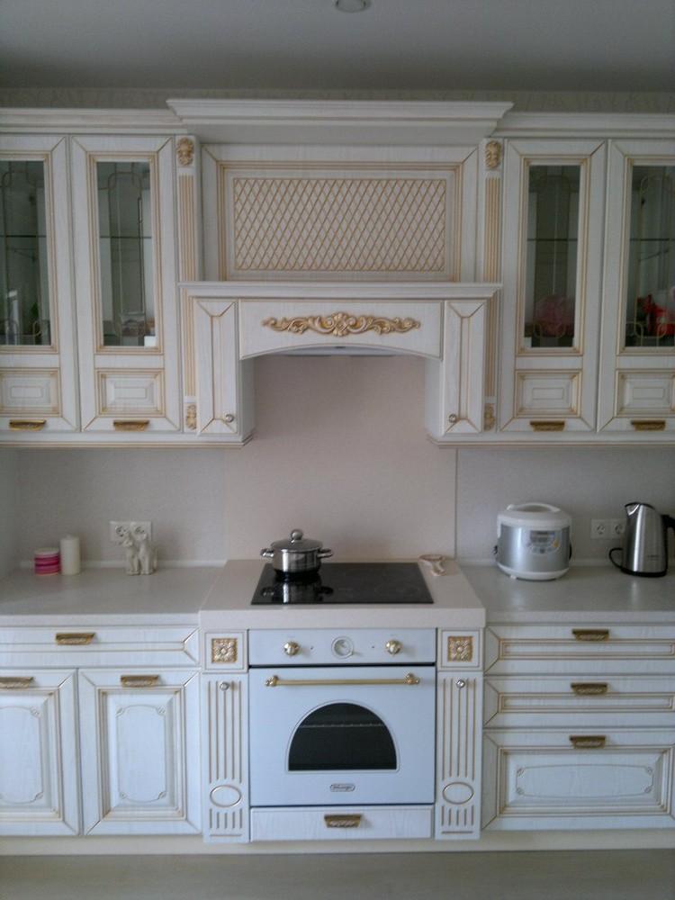 Белый кухонный гарнитур-Кухня МДФ в эмали «Модель 126»-фото8