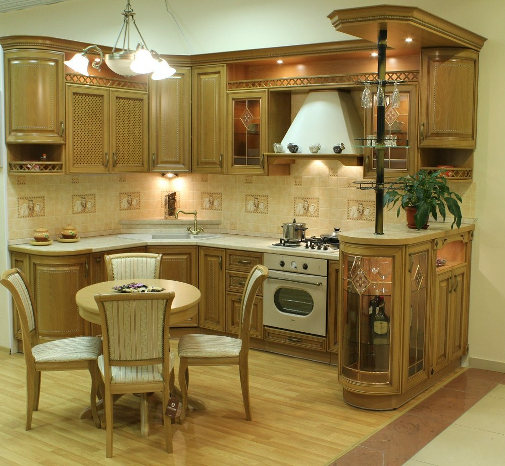 Встроенная кухня-Кухня из массива «Модель 127»-фото1