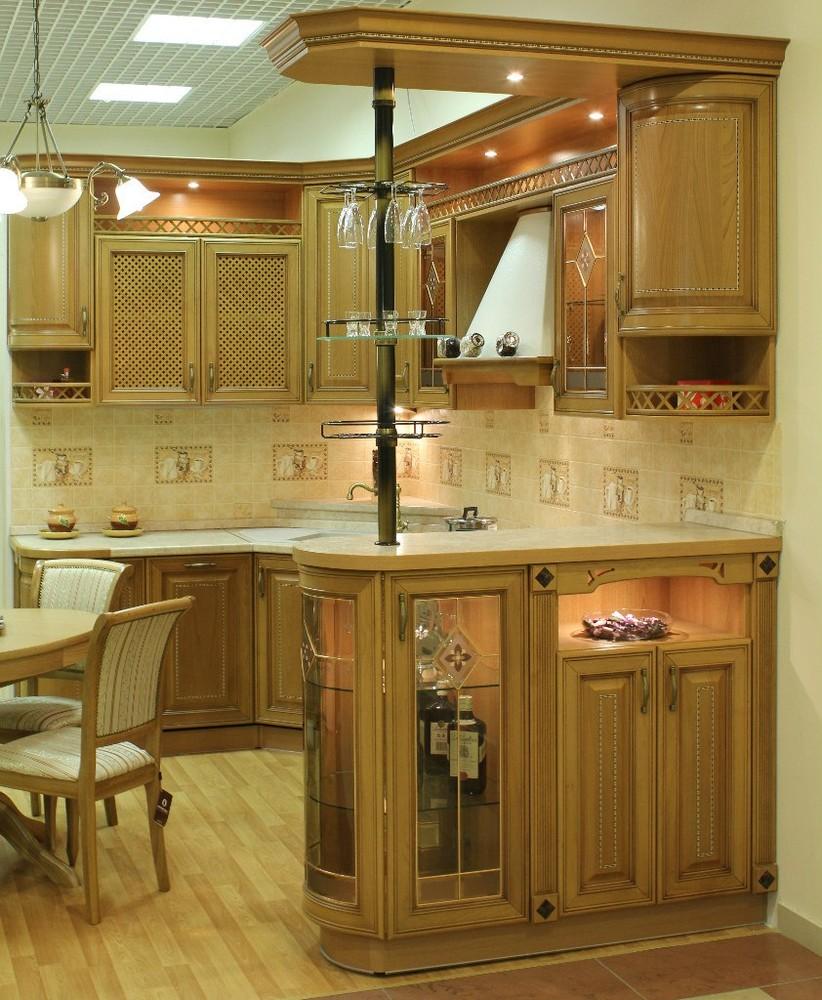 Встроенная кухня-Кухня из массива «Модель 127»-фото2