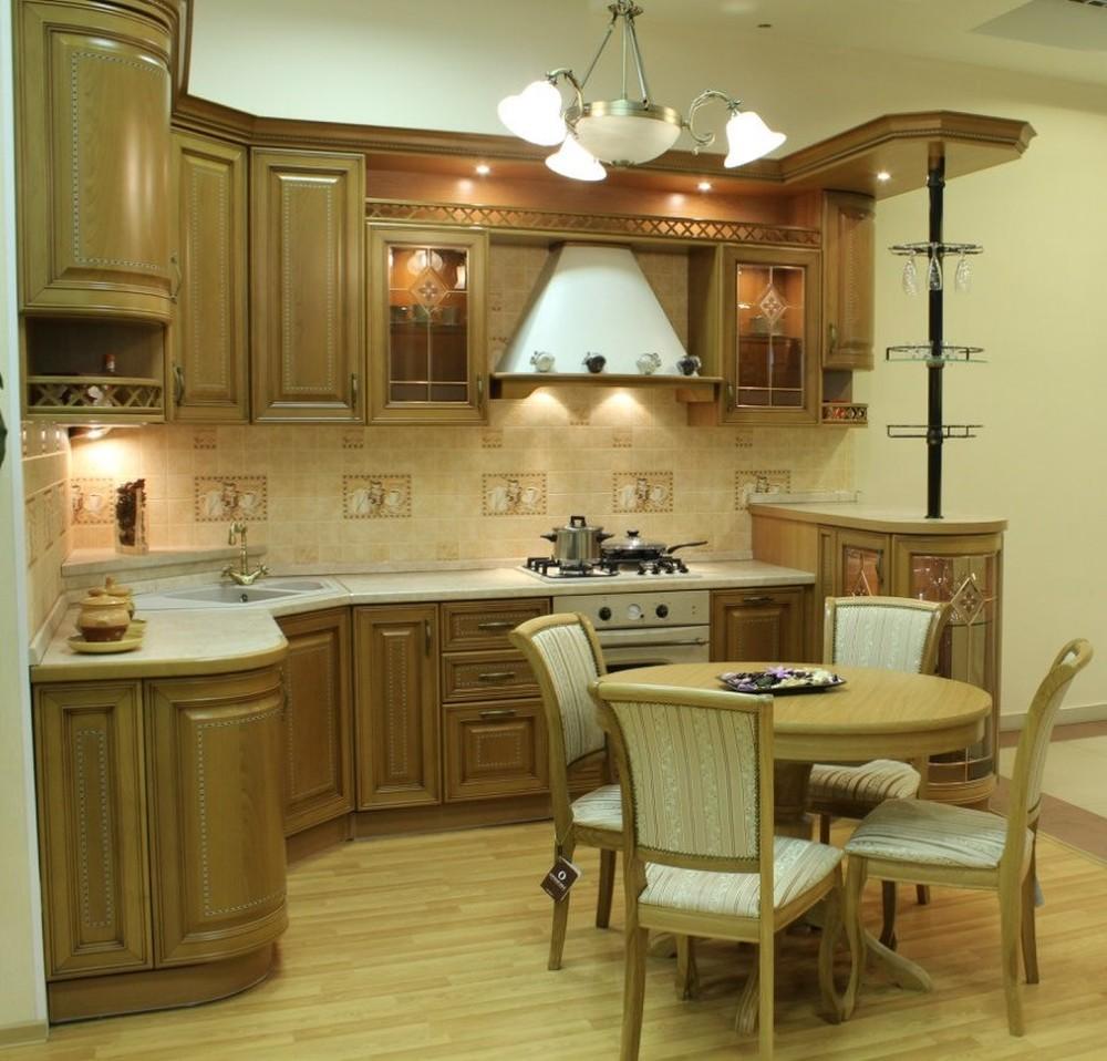 Встроенная кухня-Кухня из массива «Модель 127»-фото3