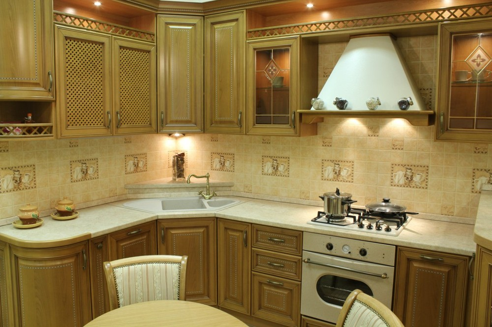Встроенная кухня-Кухня из массива «Модель 127»-фото4