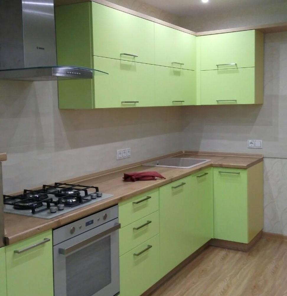 Встроенная кухня-Кухня МДФ в ПВХ «Модель 194»-фото1