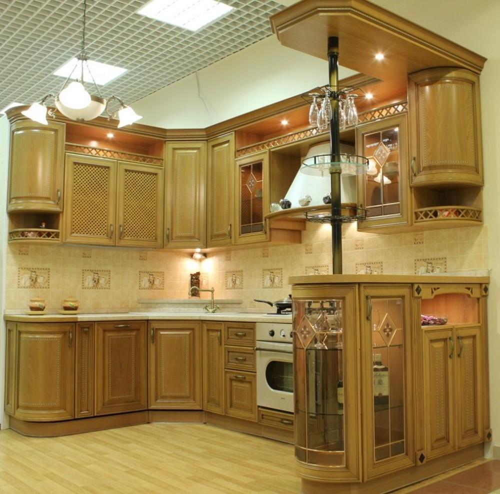 Встроенная кухня-Кухня из массива «Модель 127»-фото5