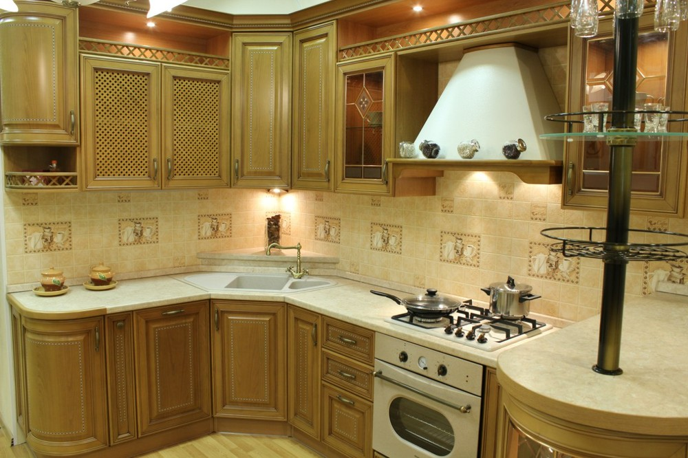 Встроенная кухня-Кухня из массива «Модель 127»-фото6