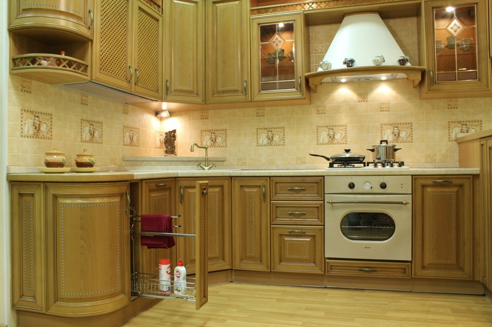 Встроенная кухня-Кухня из массива «Модель 127»-фото7