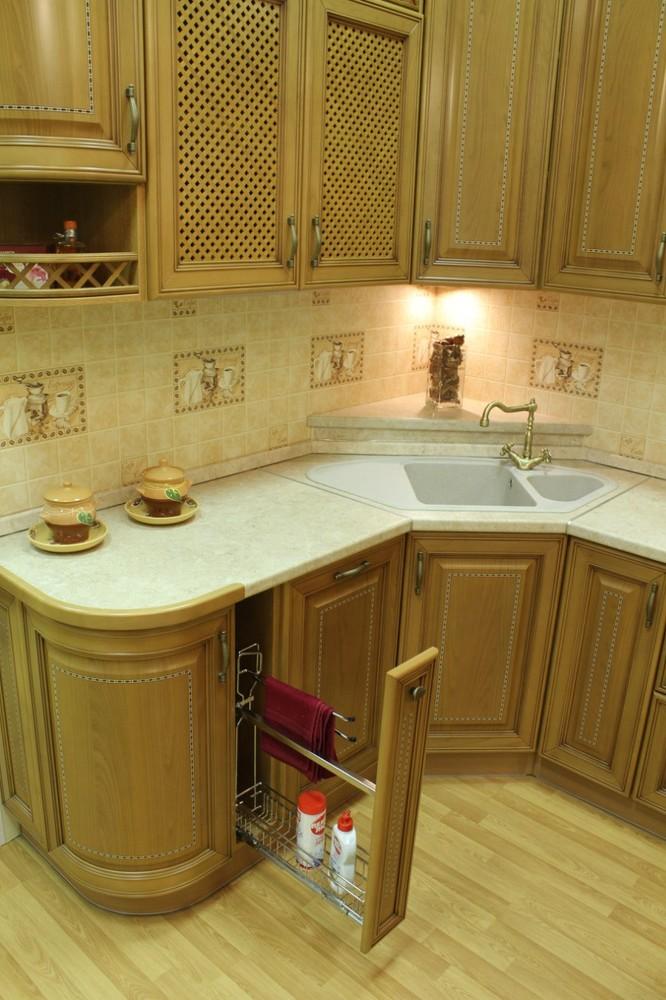 Встроенная кухня-Кухня из массива «Модель 127»-фото8