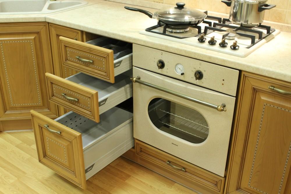 Встроенная кухня-Кухня из массива «Модель 127»-фото10