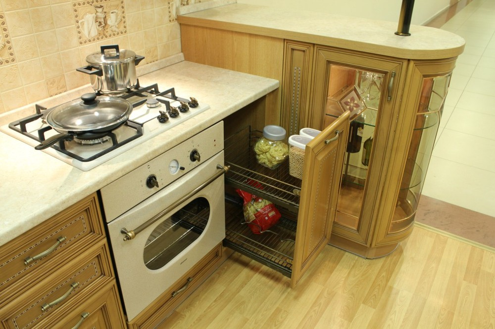 Встроенная кухня-Кухня из массива «Модель 127»-фото12