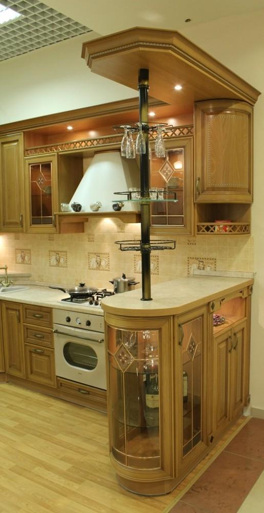 Встроенная кухня-Кухня из массива «Модель 127»-фото14