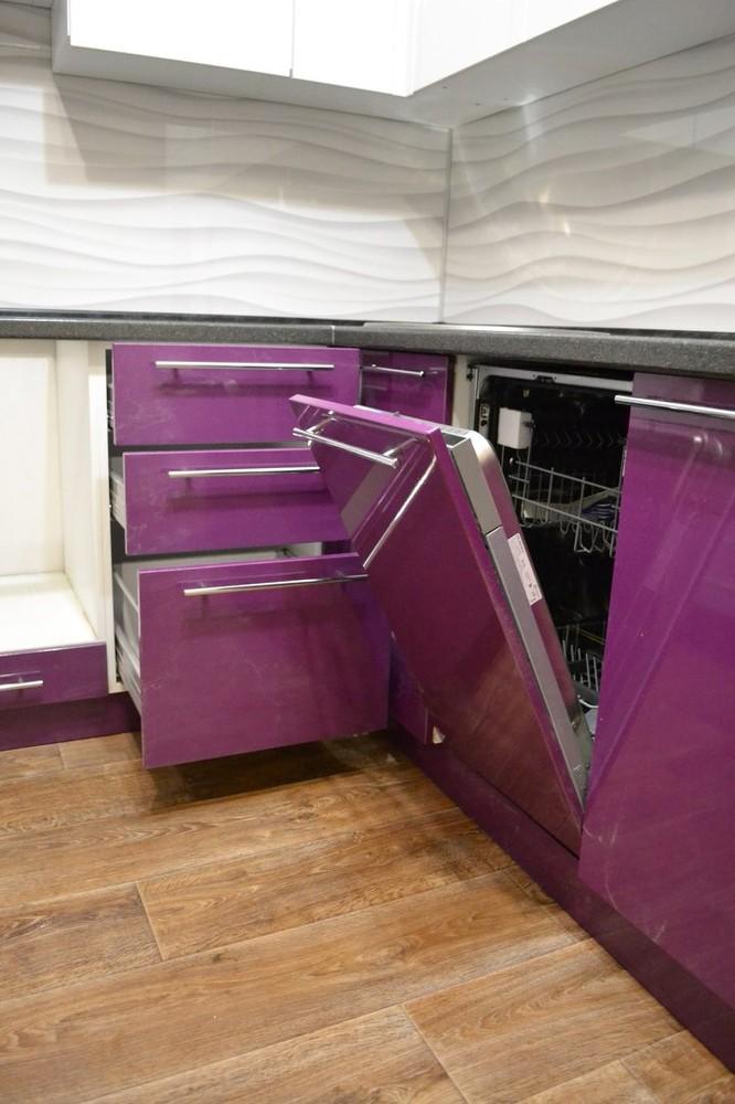 Встроенная кухня-Кухня МДФ в ПВХ «Модель 161»-фото5