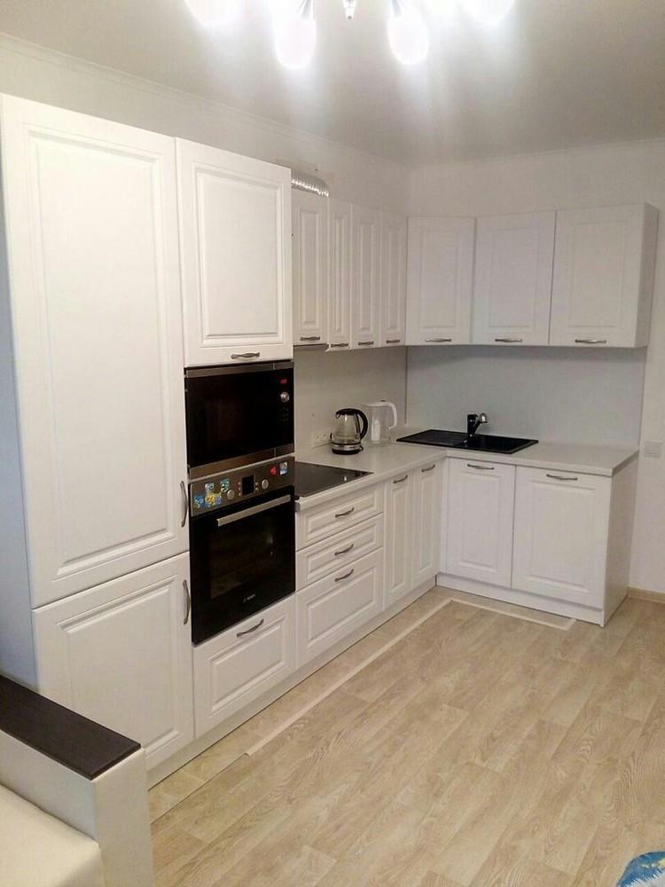 Акриловые кухни-Кухня МДФ в эмали «Модель 166»-фото1
