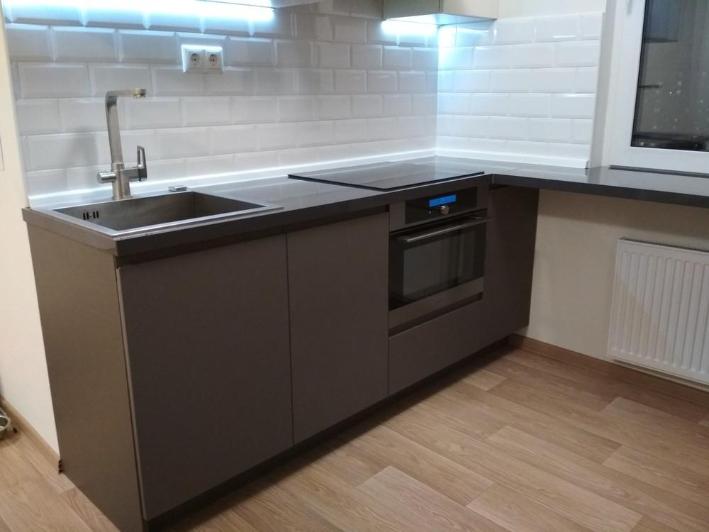 Акриловые кухни-Кухня МДФ в эмали «Модель 182»-фото8