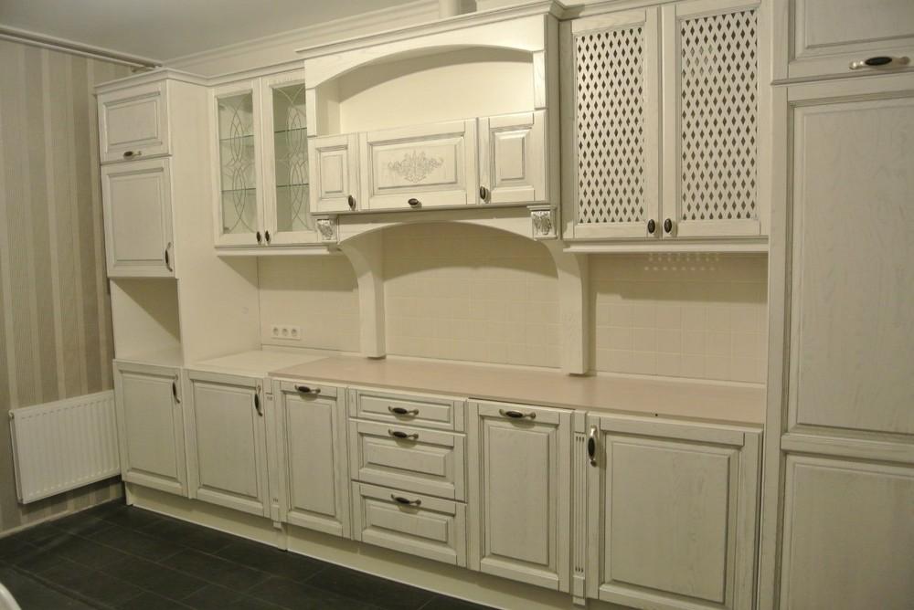 Белый кухонный гарнитур-Кухня МДФ в ПВХ «Модель 187»-фото4