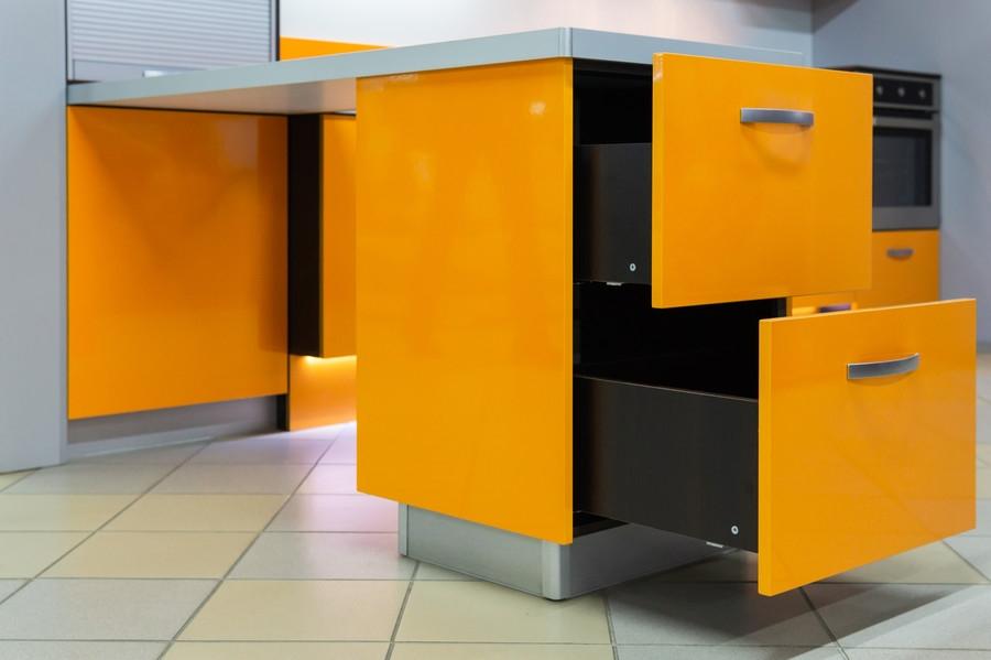 Глянцевые кухни-Кухня МДФ в ПВХ «Модель 44»-фото4