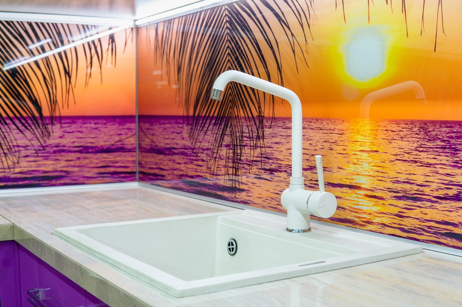 Белый кухонный гарнитур-Кухня МДФ в ПВХ «Модель 45»-фото5
