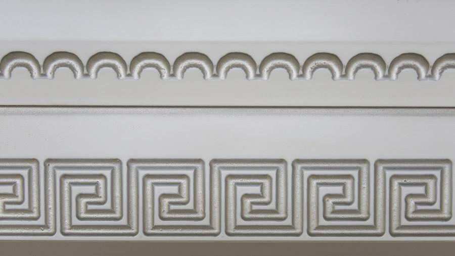 Белый кухонный гарнитур-Кухня МДФ в эмали «Модель 47»-фото10