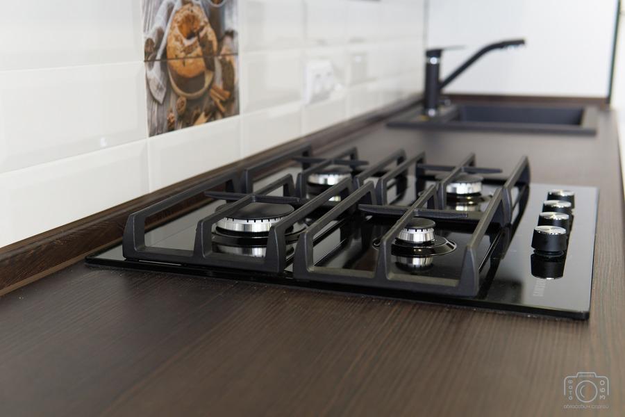 Белый кухонный гарнитур-Кухня МДФ в эмали «Модель 6»-фото8
