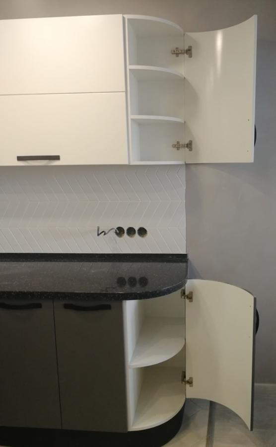 Белый кухонный гарнитур-Кухня МДФ в ПВХ «Модель 29»-фото5