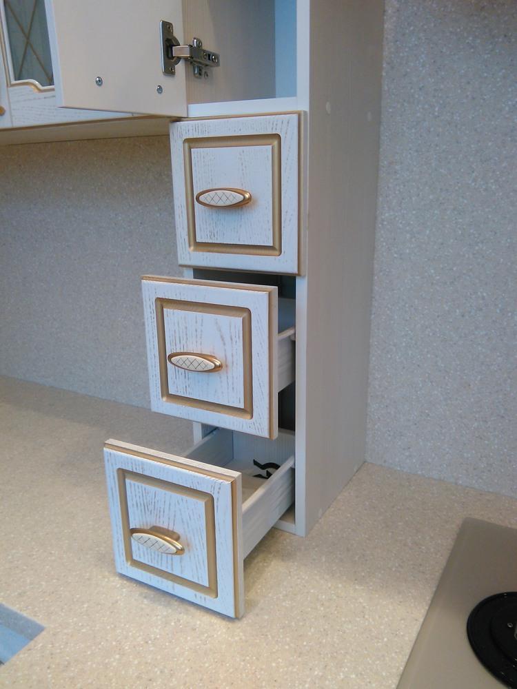 Белый кухонный гарнитур-Кухня из шпона «Модель 341»-фото5