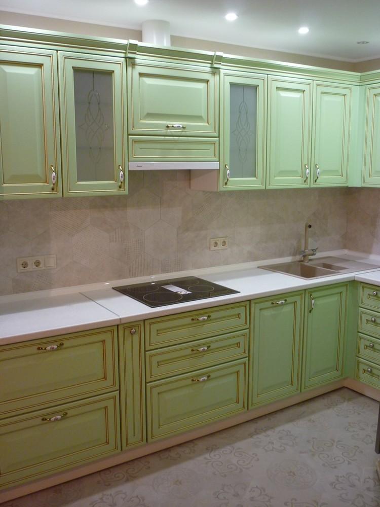 Встроенная кухня-Кухня МДФ в ПВХ «Модель 326»-фото1