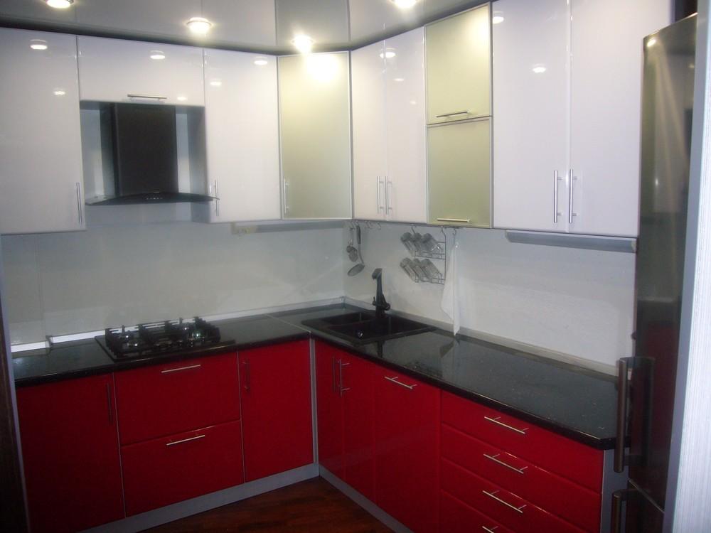 Встроенная кухня-Кухня МДФ в ПВХ «Модель 351»-фото4