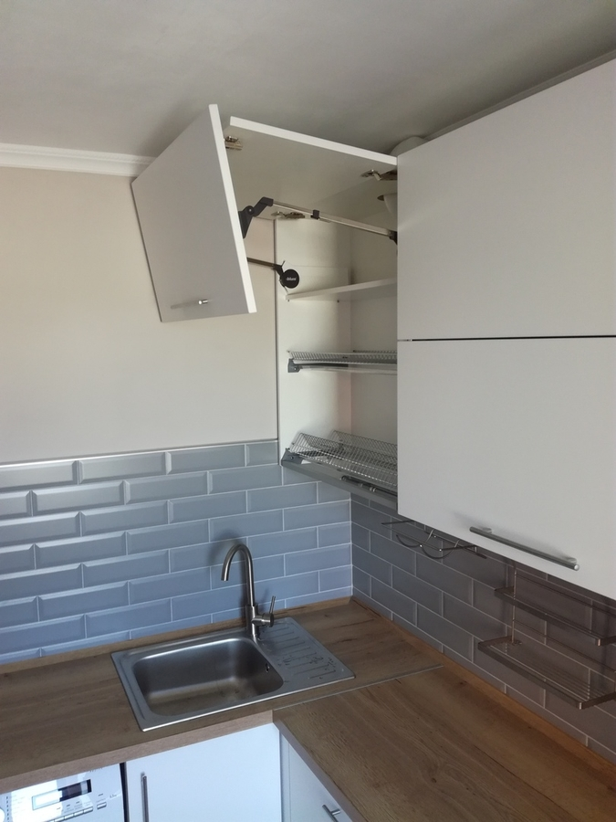 Белый кухонный гарнитур-Кухня МДФ в ПВХ «Модель 122»-фото6