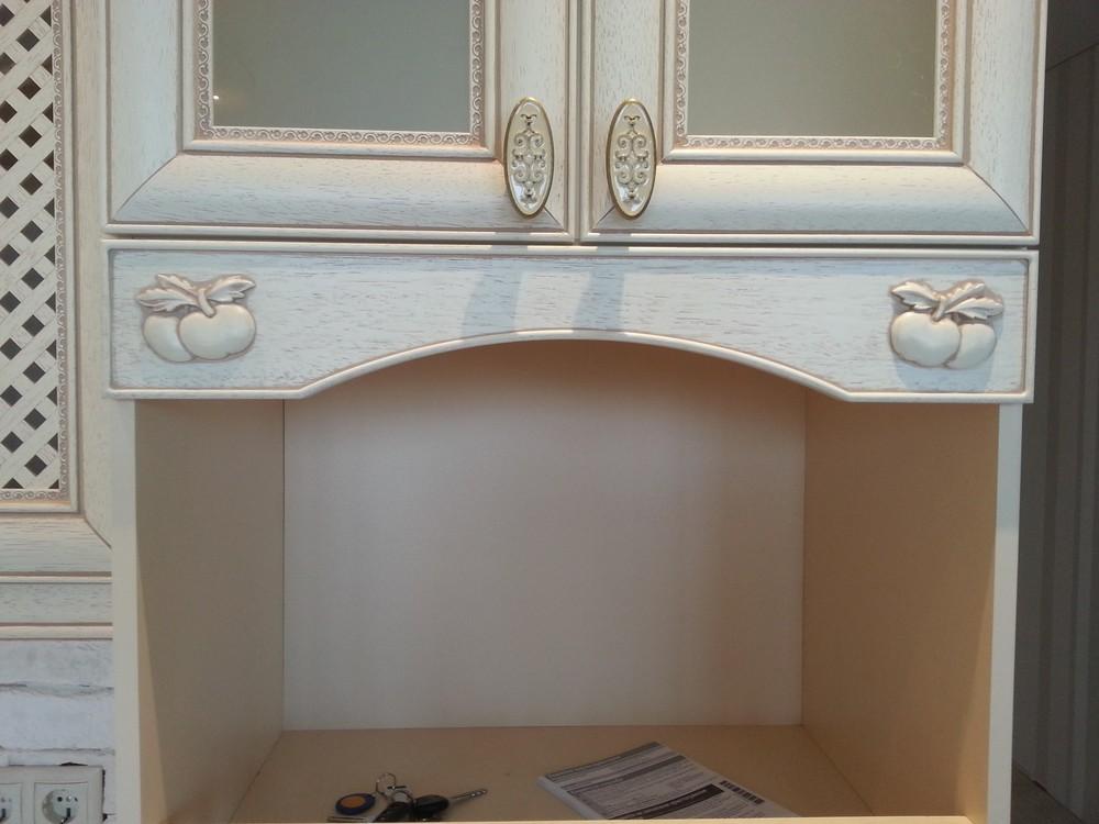 Белый кухонный гарнитур-Кухня из массива «Модель 276»-фото3