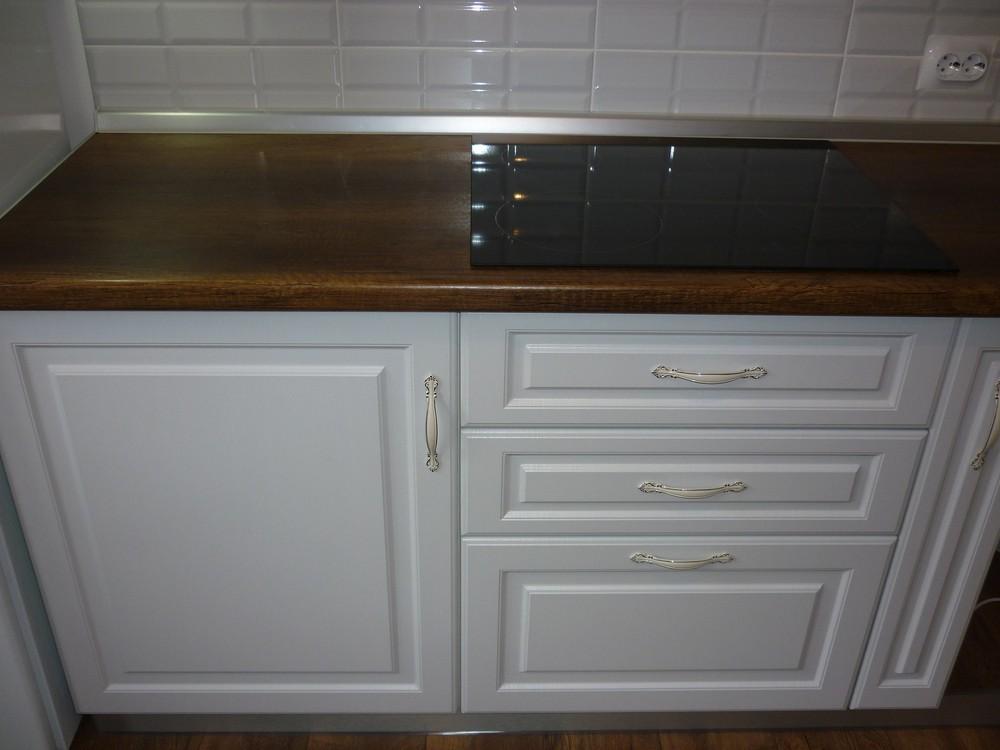 Белый кухонный гарнитур-Кухня МДФ в ПВХ «Модель 235»-фото2