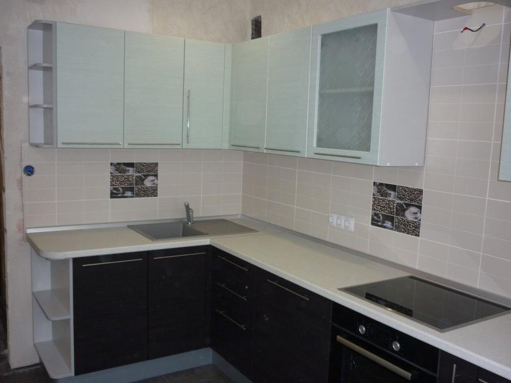 Встроенная кухня-Кухня МДФ в ПВХ «Модель 206»-фото1