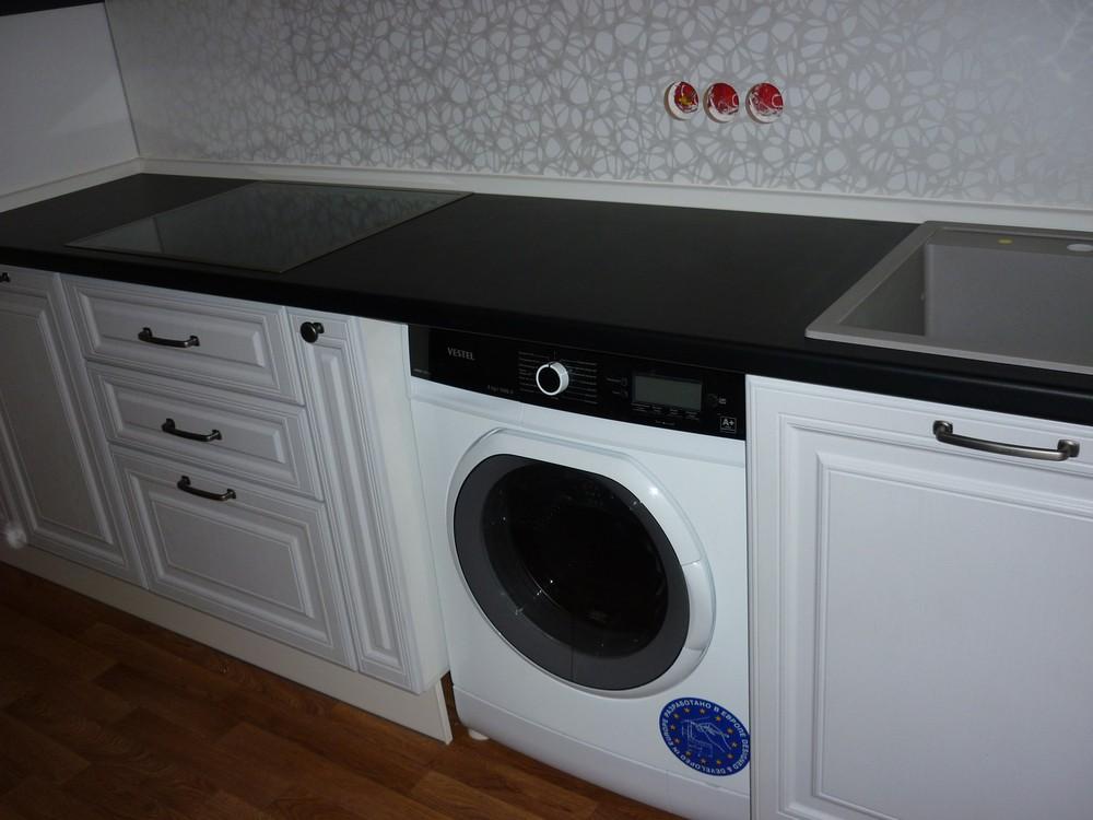 Белый кухонный гарнитур-Кухня МДФ в ПВХ «Модель 241»-фото4