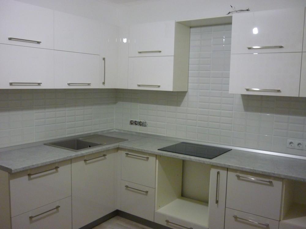 Встроенная кухня-Кухня МДФ в эмали «Модель 248»-фото1
