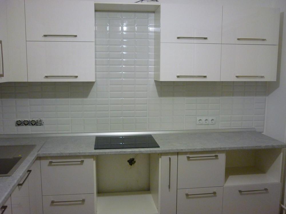 Встроенная кухня-Кухня МДФ в эмали «Модель 248»-фото4