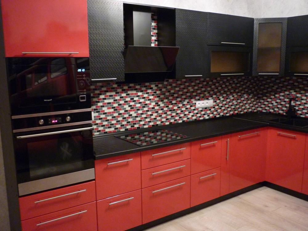 Встроенная кухня-Кухня из пластика «Модель 217»-фото1