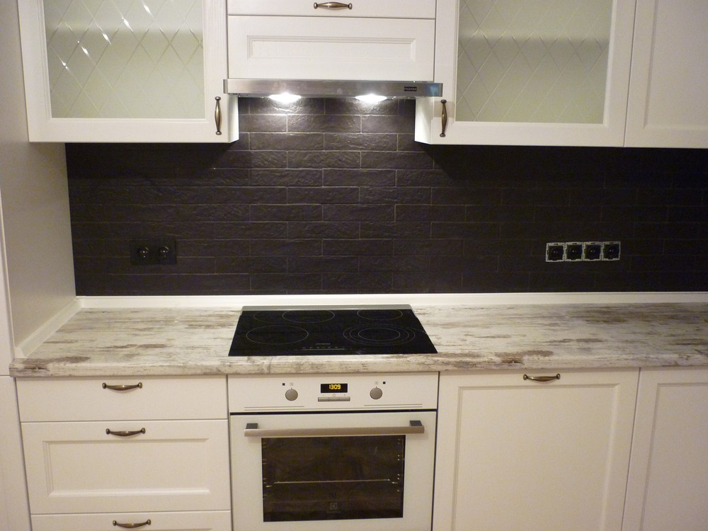 Белый кухонный гарнитур-Кухня из массива «Модель 218»-фото5