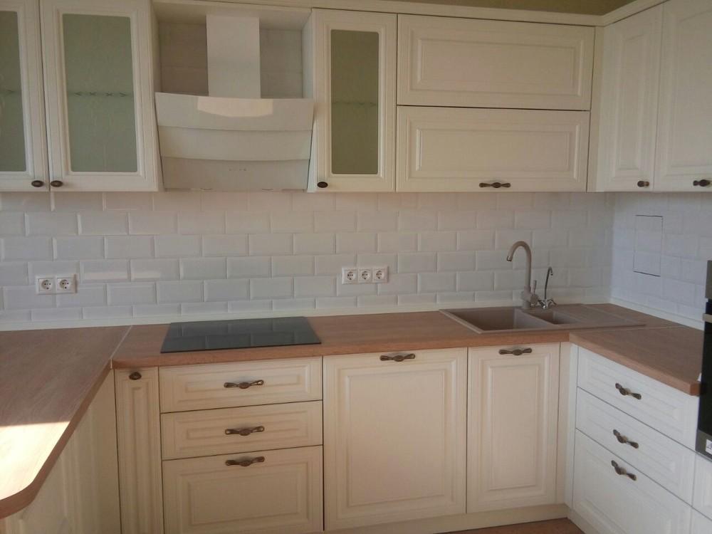 Белый кухонный гарнитур-Кухня МДФ в ПВХ «Модель 226»-фото4
