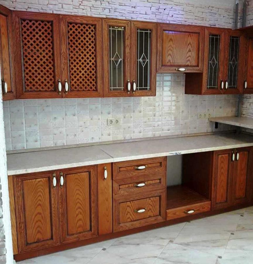 Кухни на заказ-Кухня из шпона «Модель 345»-фото3