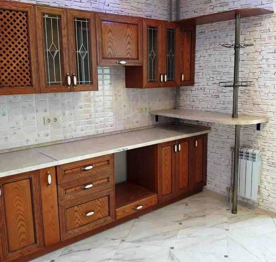 Кухни на заказ-Кухня из шпона «Модель 345»-фото2