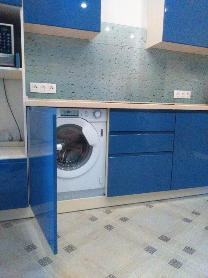 Глянцевые кухни-Кухня МДФ в эмали «Модель 428»-фото7