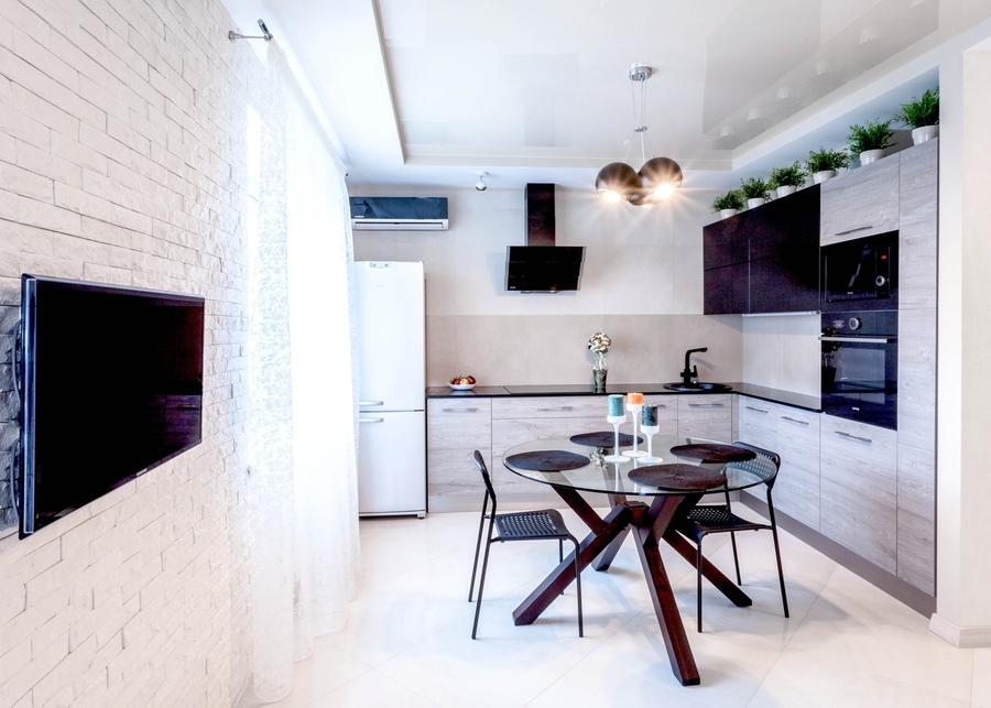 Встроенная кухня-Кухня из ЛДСП «Модель 410»-фото1