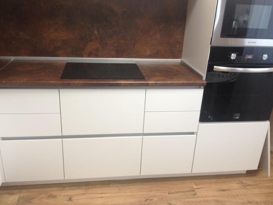 Белый кухонный гарнитур-Кухня из ЛДСП «Модель 176»-фото2