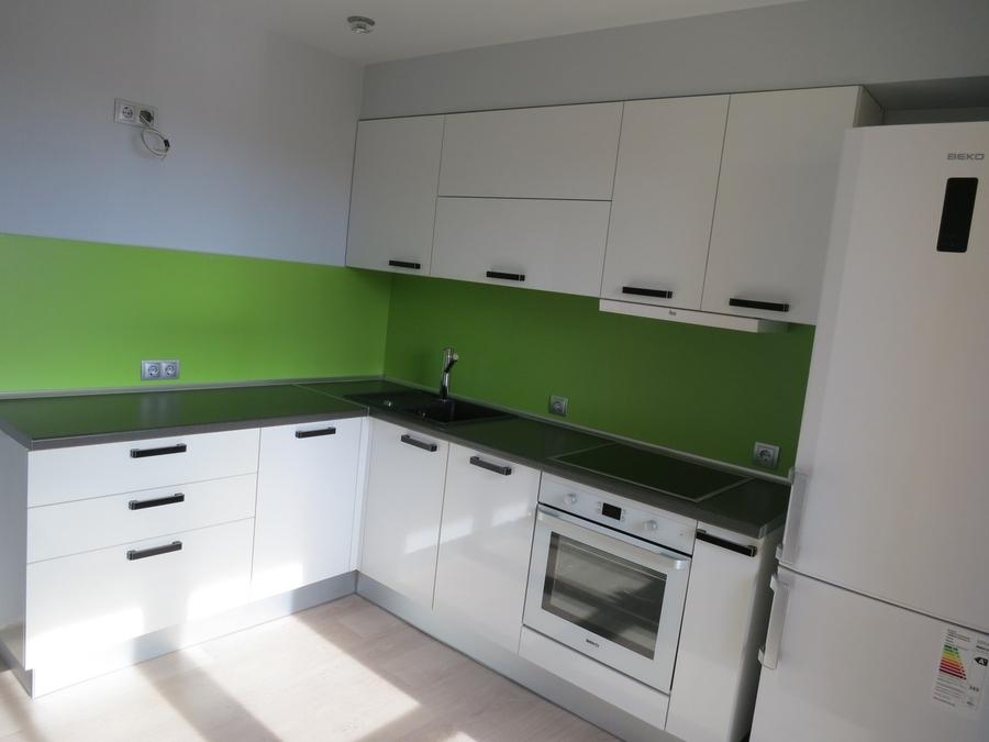 Белый кухонный гарнитур-Кухня из пластика «Модель 448»-фото1