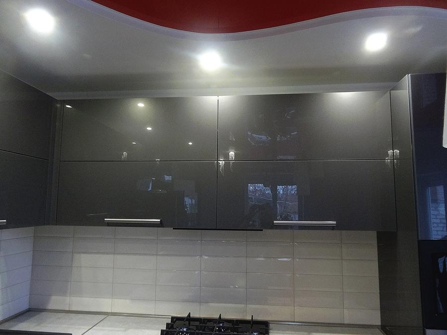 Акриловые кухни-Кухня из пластика «Модель 451»-фото2