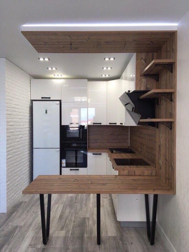 Белый кухонный гарнитур-Кухня из пластика «Модель 446»-фото1