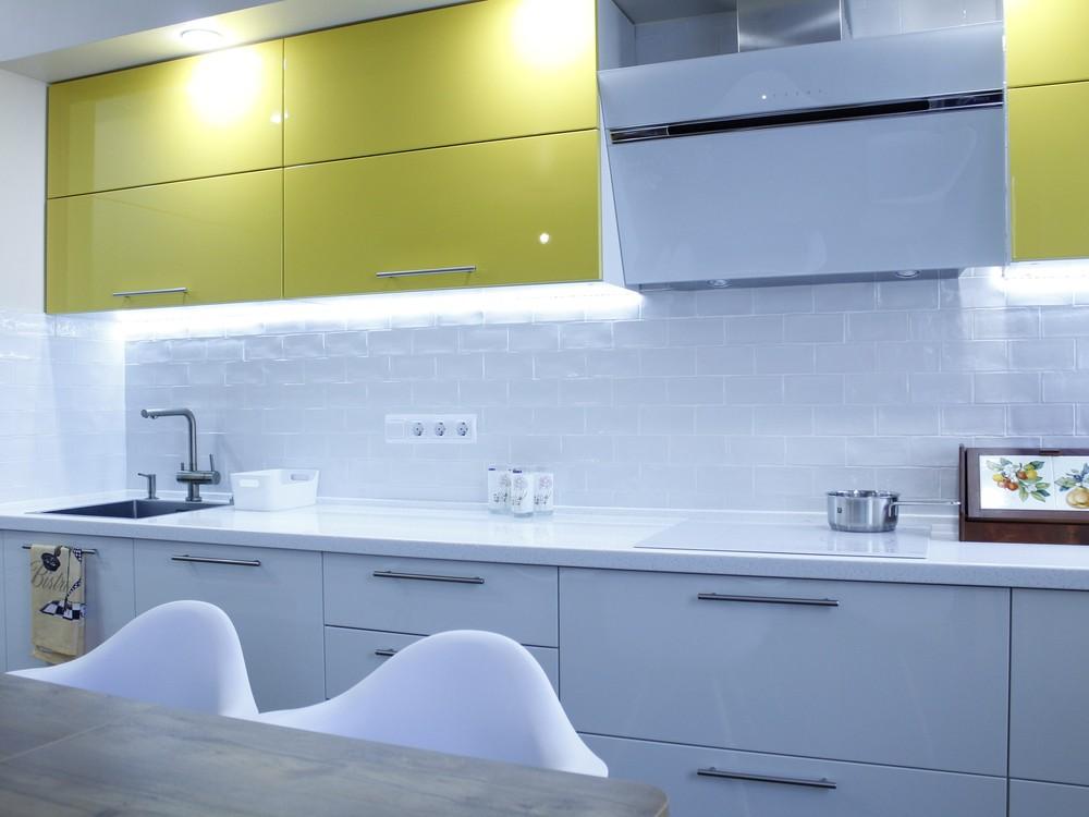 Встроенная кухня-Кухня МДФ в эмали «Модель 200»-фото3