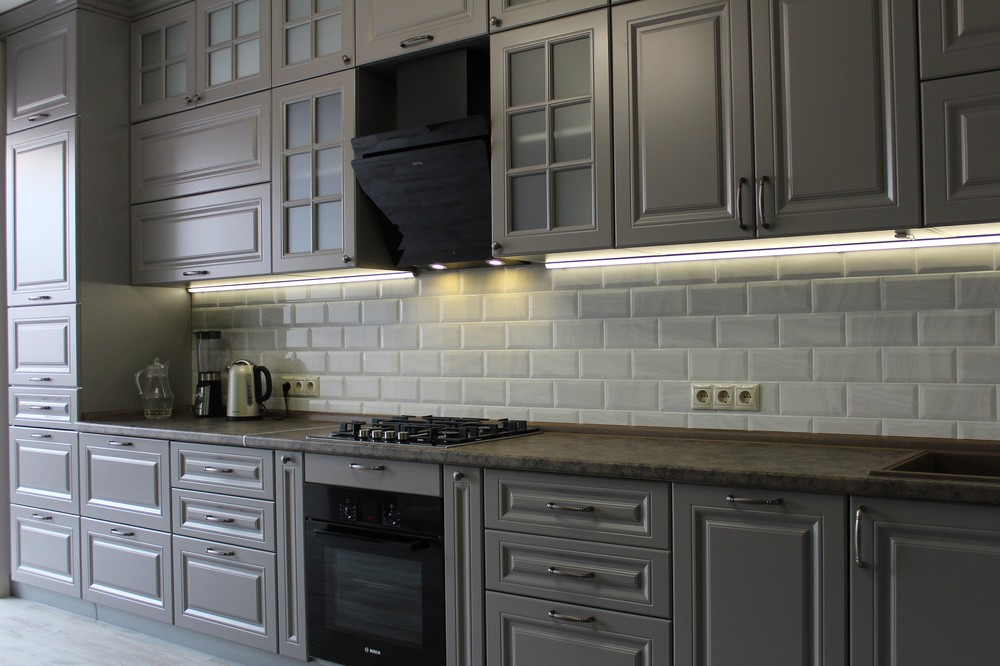 Белый кухонный гарнитур-Кухня МДФ в ПВХ «Модель 183»-фото8