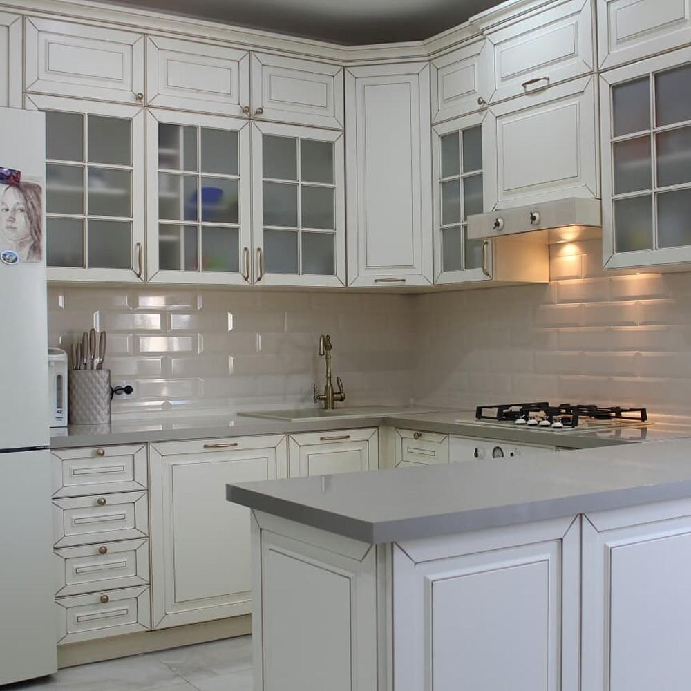 Встроенная кухня-Кухня МДФ в ПВХ «Модель 154»-фото2
